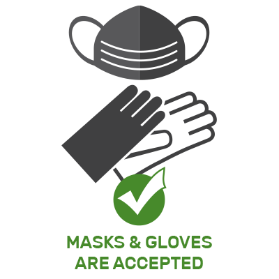 Masks and Gloves are Accepted